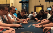 This is my table from a recent $25,000 buy-in event.